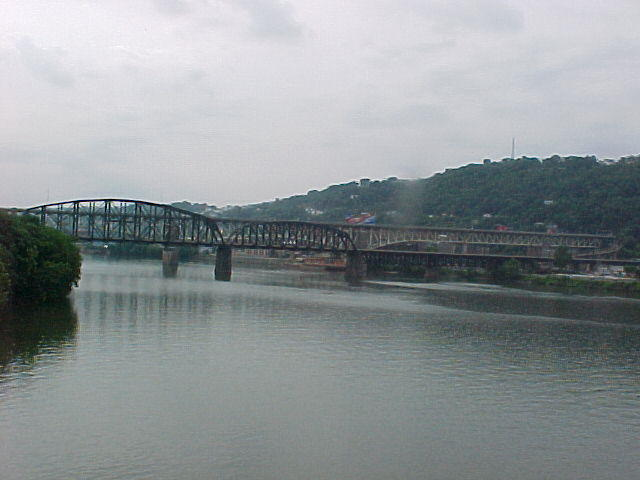 Three Rivers (poem) by Alpay Ulku - image of Ohio River from Fort Pitt Bridge