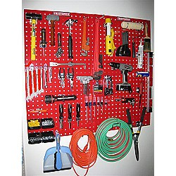 Red peg board