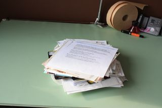 Pile of papers to file