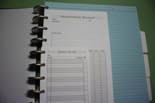 Example of levenger binder for school or for work