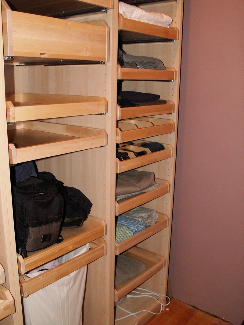 ... So I Added Deep Drawers With Dividers In The Master Closet To Store  Supplies. I Even Designed Two Of The Double Wide Pull Out Shelves In My  Study To Act ...