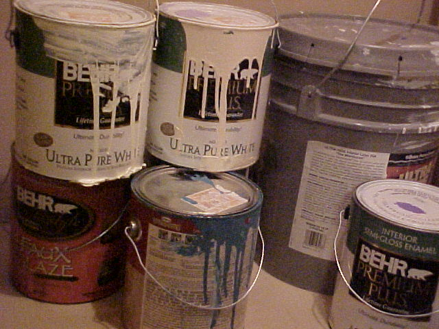 Right  After --the uniform size and appearance of the cans looks appealing and tidy. & Organization Quest: Ideas for (Neatly) Storing House Paint